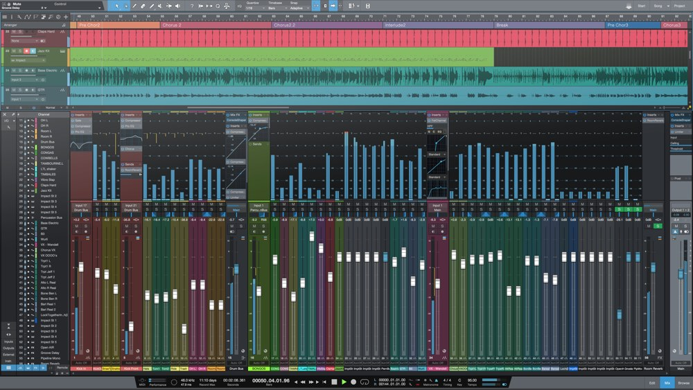 Studio One 4「ミックス」