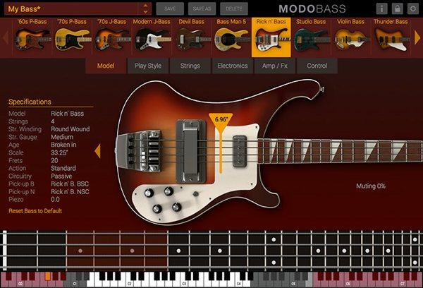 フィジカル・モデリング・ベース音源「MODO BASS」